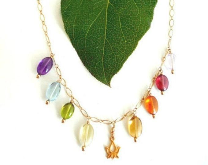 Bohemian Bride ~ Multi Gemstone Necklace