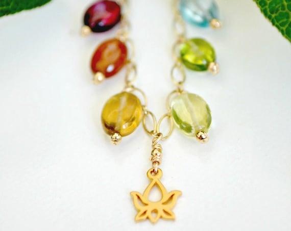 Lotus Charm Necklace ~ Bohemian Bride