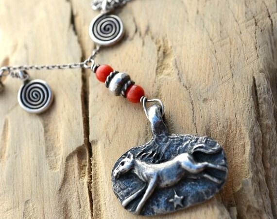 Sundance Style Horse Necklace