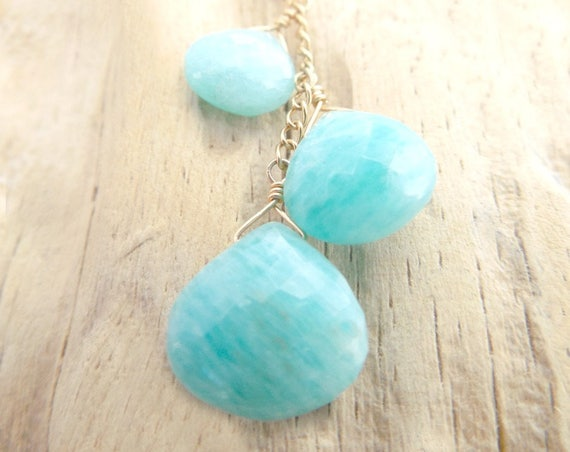 Amazonite Necklace ~ Blue Wedding Jewelry