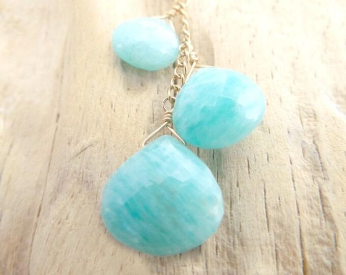 Amazonite Necklace ~ Blue Wedding Jewelry