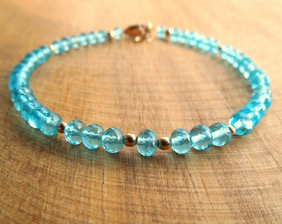 Maid of Honor Apatite Bracelet | Bridesmaid Jewelry | Bride Tribe Gifts