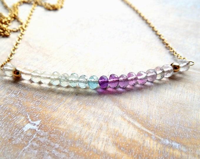 Fluorite Gemstone Necklace