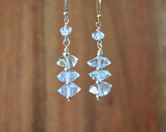 Raw Herkimer Diamond Earrings