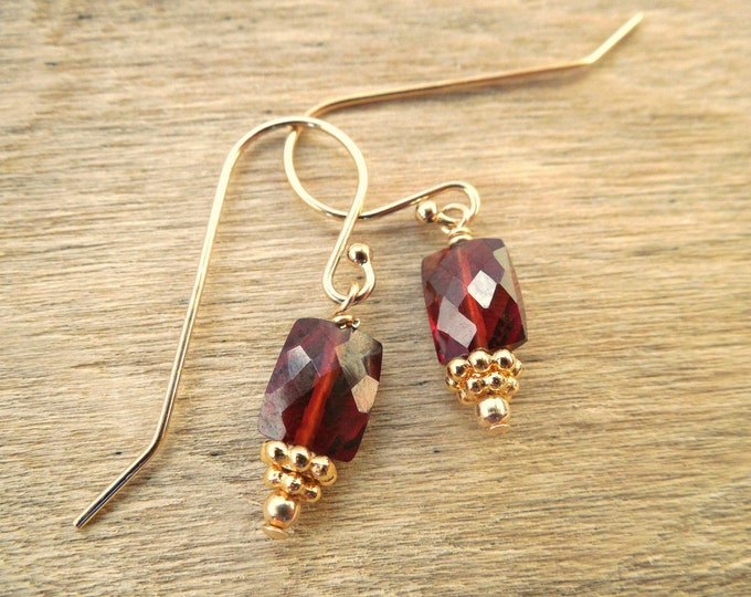Garnet Earrings ~ January Birthstone Jewelry