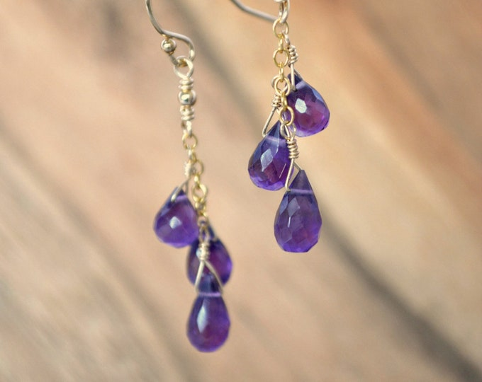 February Birthstone Earrings ~ Amethyst