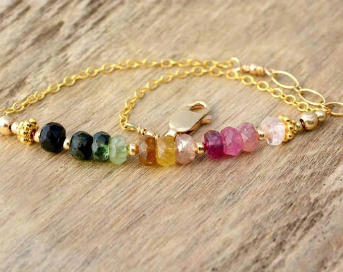 Colorful Tourmaline Bracelet