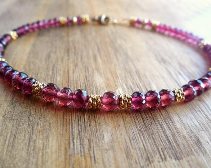 Rhodolite Garnet Bracelet