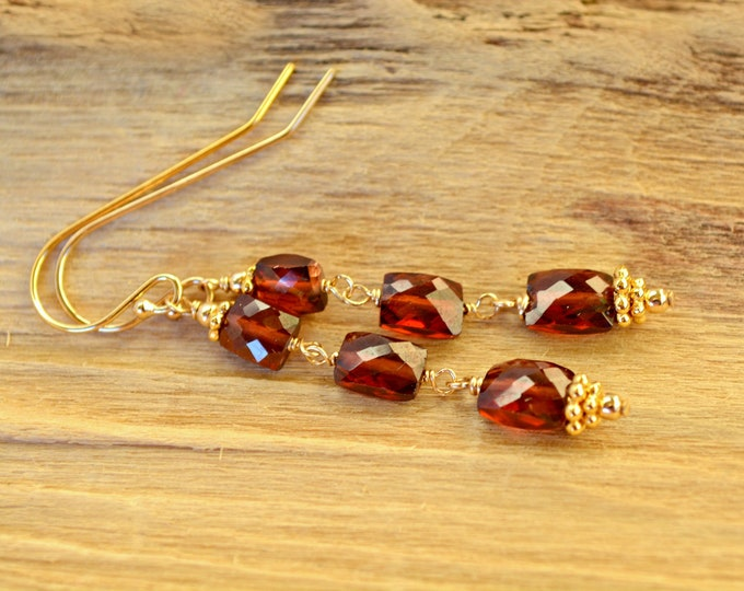 Red Garnet Earrings ~ 2nd Anniversary