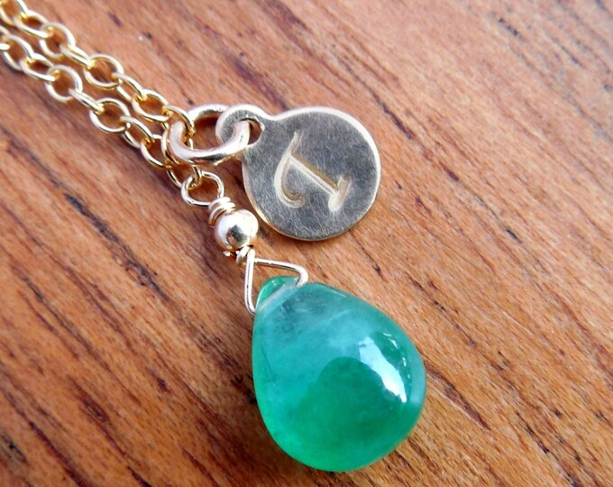Personalized Emerald Necklace