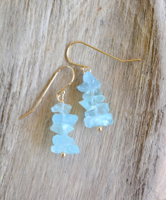 March Birthstone Earrings ~ Aquamarine