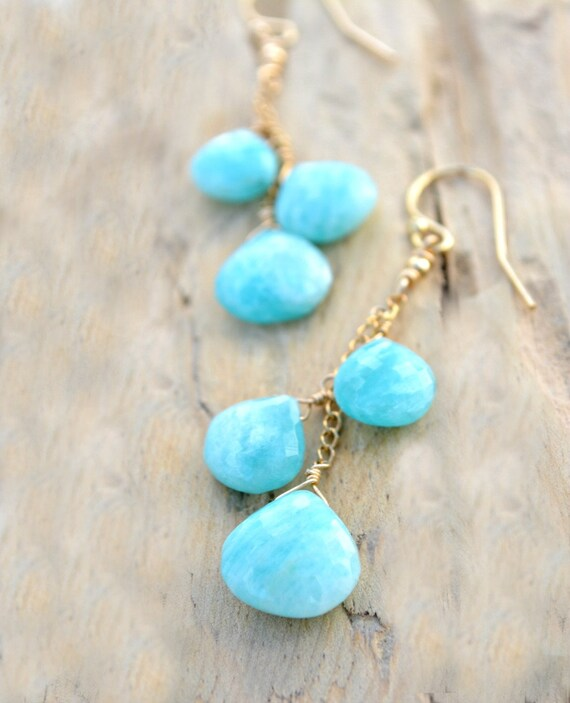 Amazonite Earrings ~ Bohemian Bride