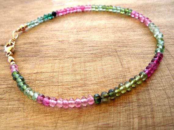 October Birthstone Bracelet - Tourmaline