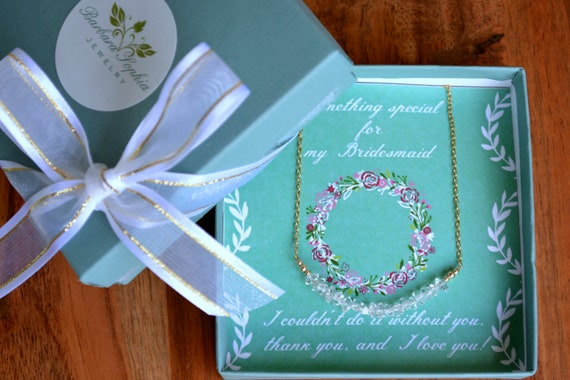Bridesmaid Thank You Jewelry Gift With Card