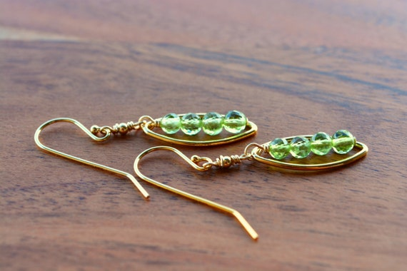 Peridot Earrings ~ Bridesmaid Thank You Gifts