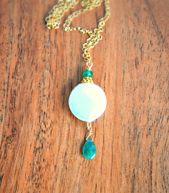 Pearl Birthstone - Coin Pearl Necklace