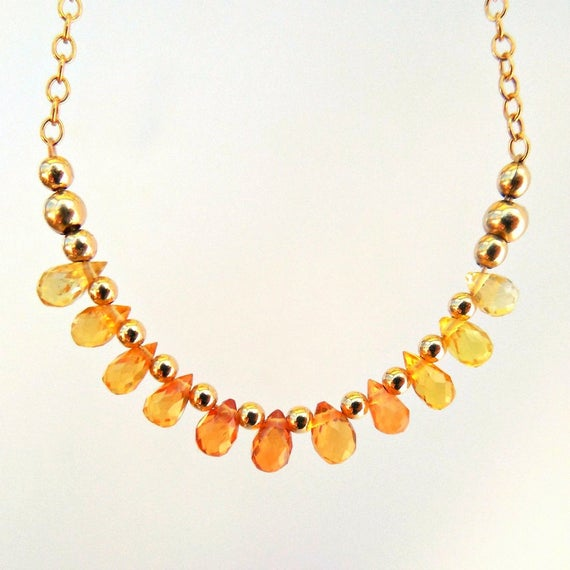 Sapphire Bar Necklace