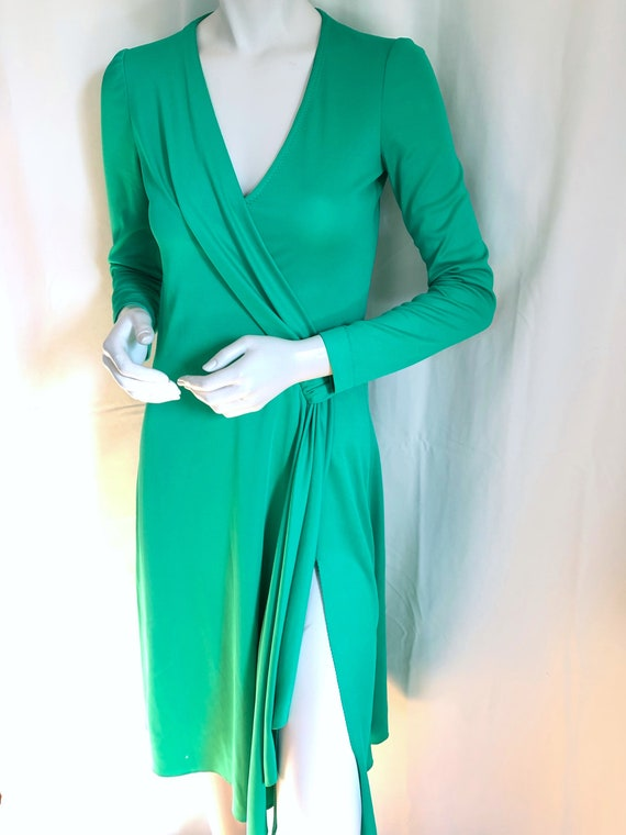 1970s Disco Glam Dress by STEPHEN BURROWS, Emerald