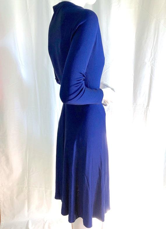 70s HALSTON Dress, Iconic Wrap Jersey Dress, Stud… - image 2