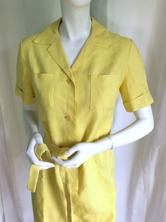 Still AVAILABLE! MID CENTURY Dress, 1940s Deco Dr… - image 10