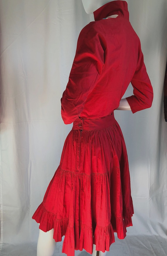 Still AVAILABLE! MID CENTURY Dress, 1940s Deco Dr… - image 3