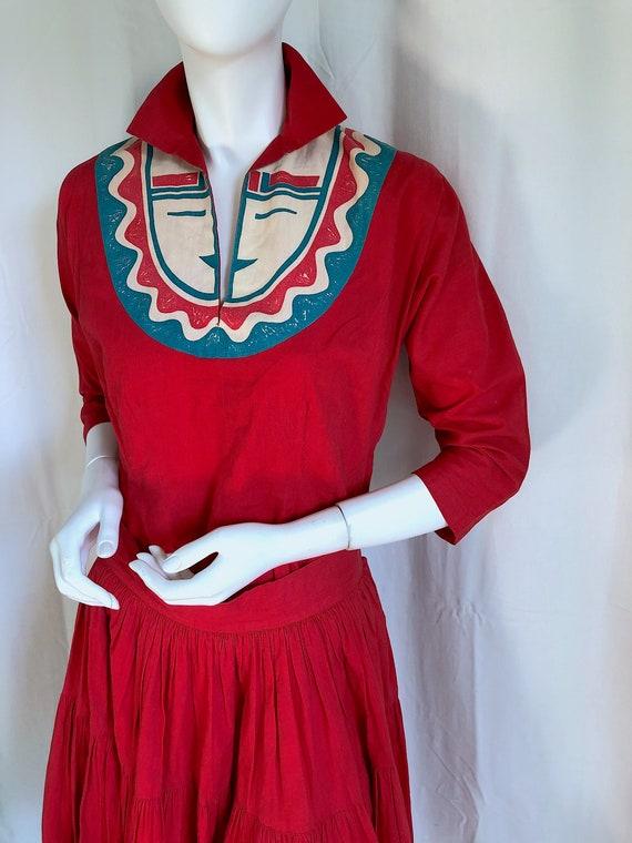 1940s Irish Linen Dress, 1950s Mid Century Dress,… - image 10