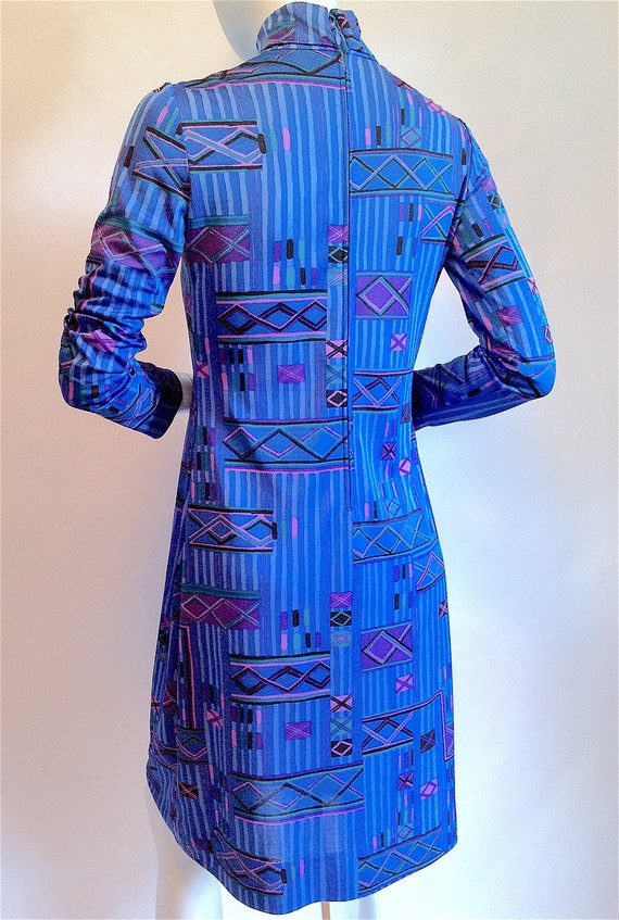 22938515bc6 KEN SCOTT Mod Dress 1960s Lord   Taylor Tribal Op Art