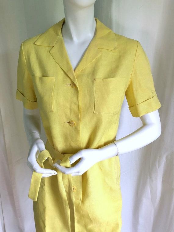 1940s Irish Linen Dress, 1950s Mid Century Dress,… - image 1
