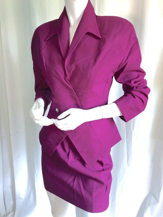 1980s THIERRY MUGLER Avant Garde Skirt Suit, Iconi