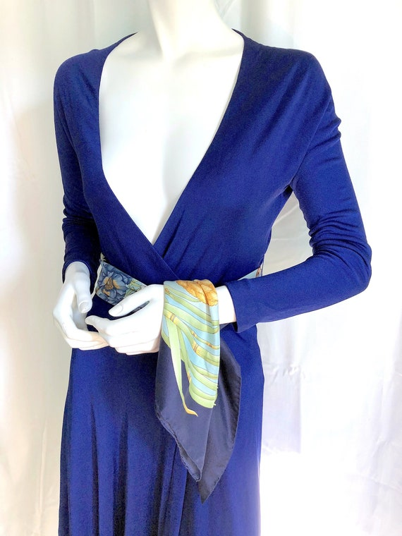 70s HALSTON Dress, Iconic Wrap Jersey Dress, Stud… - image 1