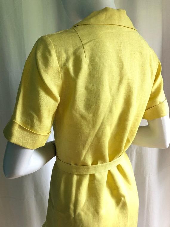 1940s Irish Linen Dress, 1950s Mid Century Dress,… - image 2