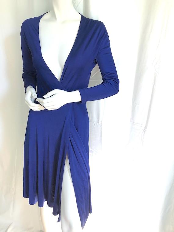 70s HALSTON Dress, Iconic Wrap Jersey Dress, Stud… - image 3