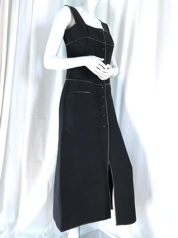 1960s COURREGES Haute Couture Maxi Dress, Futurist