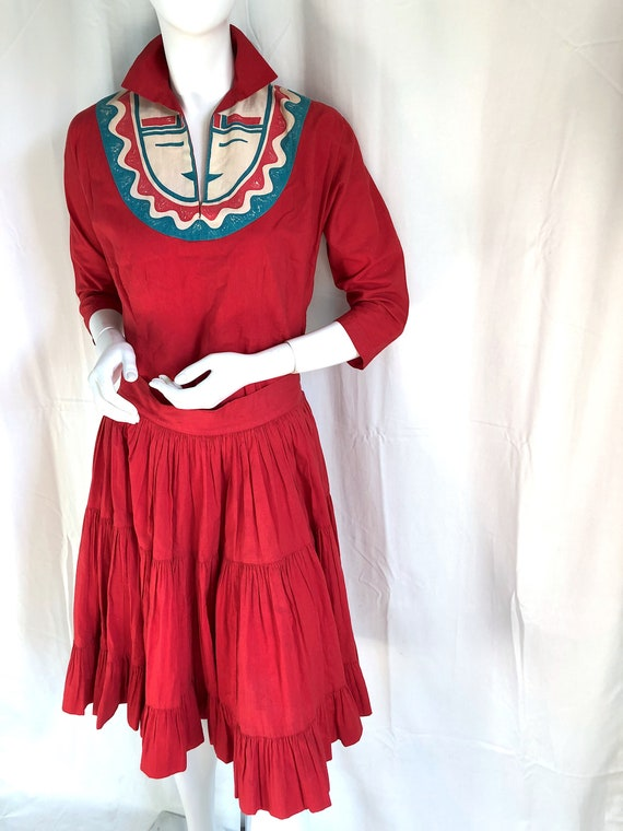 Still AVAILABLE! MID CENTURY Dress, 1940s Deco Dr… - image 2