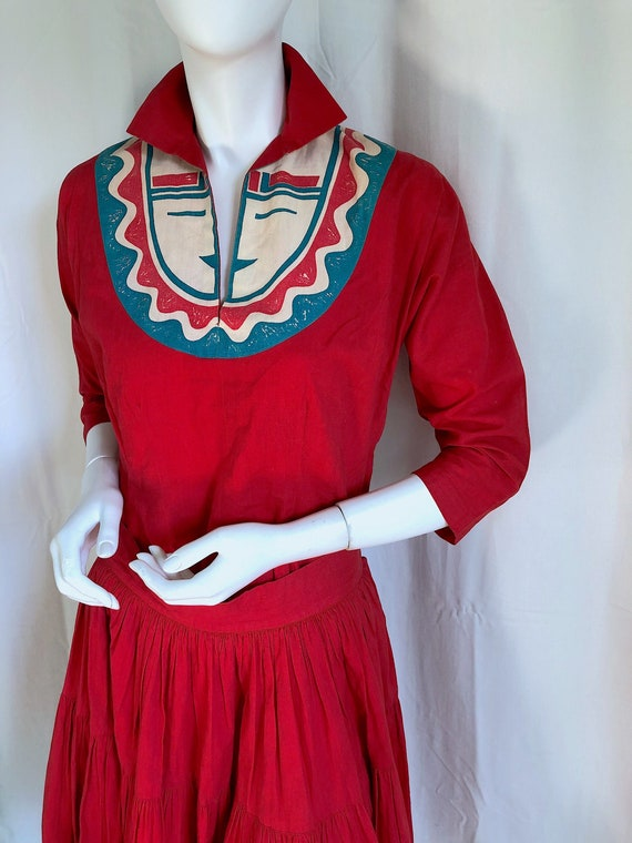 Still AVAILABLE! MID CENTURY Dress, 1940s Deco Dr… - image 1