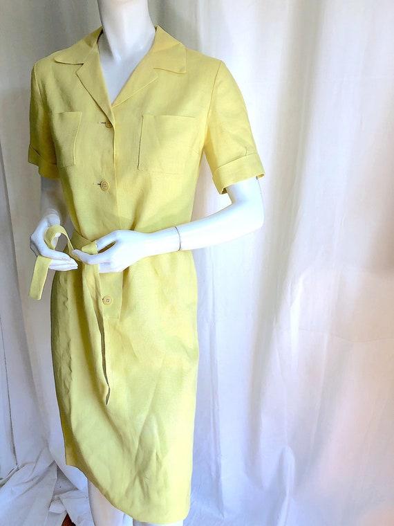 1940s Irish Linen Dress, 1950s Mid Century Dress,… - image 4