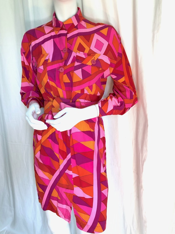 1960s MARIMEKKO SUOMI Midi Dress, Design Research… - image 9