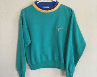 0d1e1919f0 Vintage 90s Turquoise sweater
