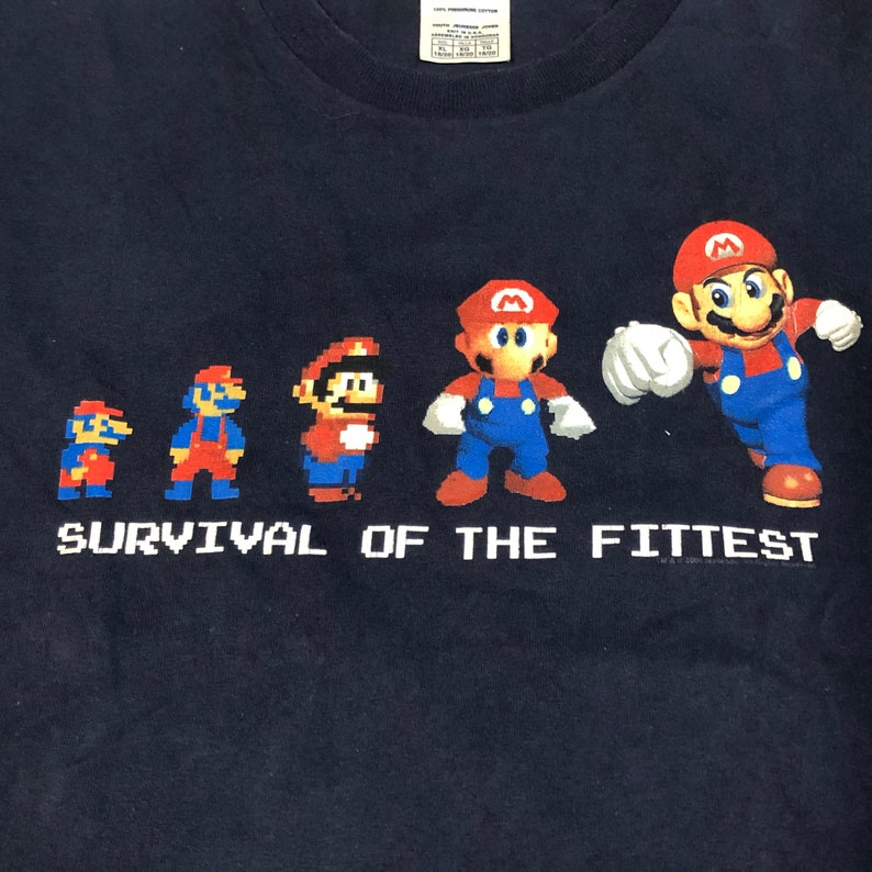 2000s Mario Survival of the Fittest shirt