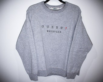 3f841c8fd Vintage 90s Guess by Marciano Whistler Canada Crewneck Sweatshirt - Small