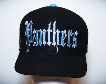 da0d6598ca78f Vintage 90s Carolina Panthers Drew Pearson NFL Football Snapback Hat