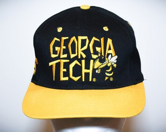 ed28c109119 Vintage 90s Georgia Tech Yellow Jackets NCAA College Snapback Hat