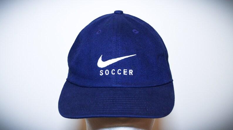 8ae15fc680d Vintage 90s Nike Soccer Blue Strapback Hat