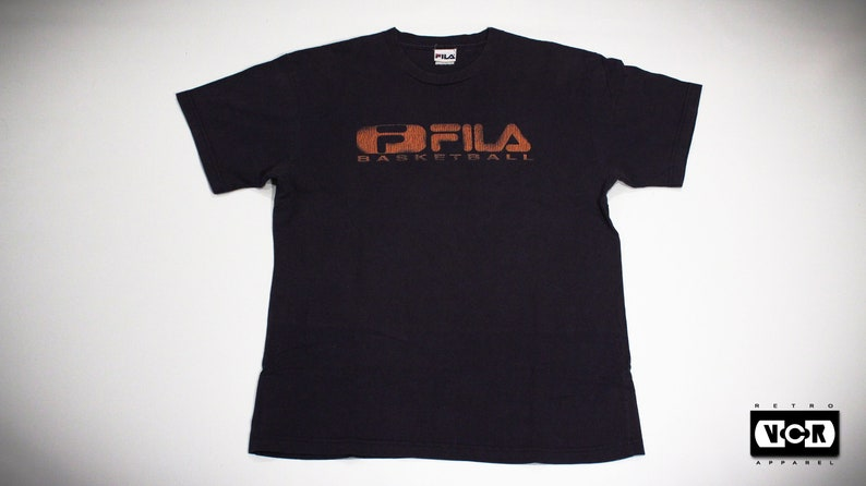 7afc5d24e38c Vintage 90s FILA Basketball T-Shirt   Etsy
