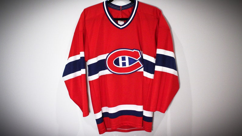 a0b80976f Vintage 90s Maska CCM Montreal Canadiens NHL Hockey Jersey