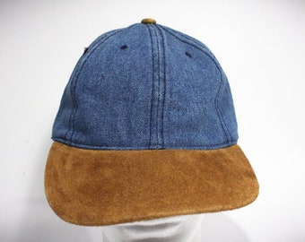 Vintage 90s Denim Strapback Hat