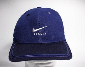 Vintage 90s Nike Italia Strapback Hat