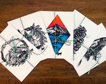 Custom Print Set- You Pick 3 | Matte Paper Prints | Nature Wall Decor | Wilderness | Mountain | Wildlife | Watercolor | PNW