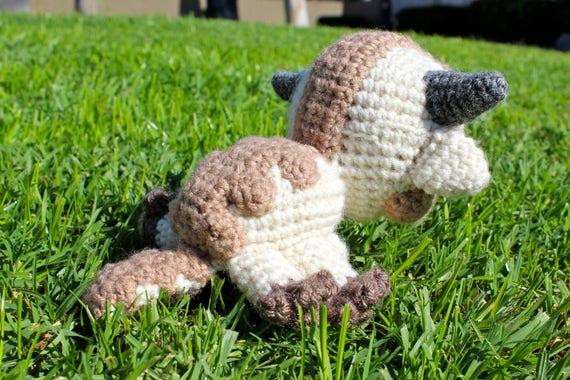 Crochet Appa Plushie Appa Amigurumi Handmade Sky Bison Etsy