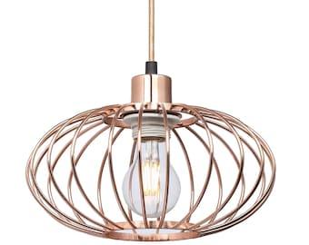 Round Design Copper Pendant Lighting